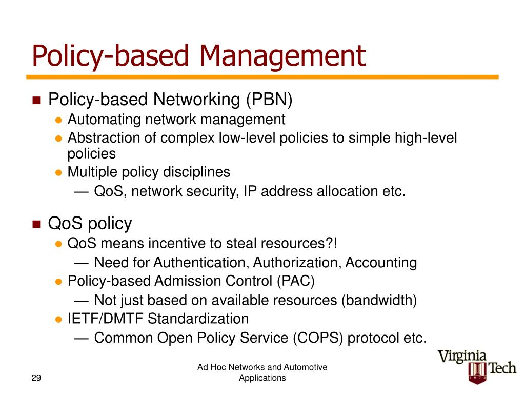 Policy-based Management