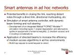smart antennas in ad hoc networks