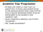 academic year progression