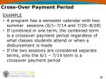 cross over payment period23