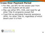 cross over payment period24