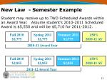 new law semester example