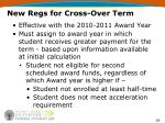 new regs for cross over term28