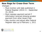 new regs for cross over term29