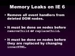 memory leaks on ie 653