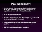 pax microsoft