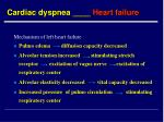 cardiac dyspnea heart failure