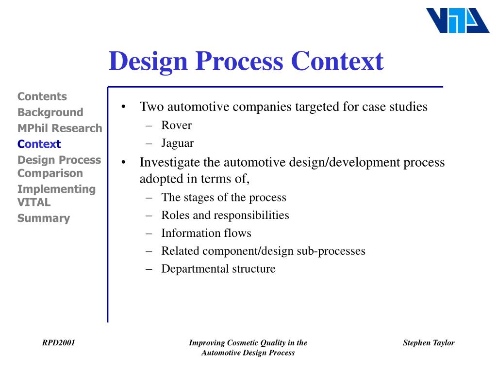 Design Process Context