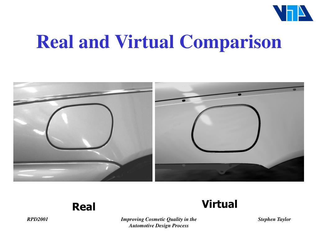 Real and Virtual Comparison