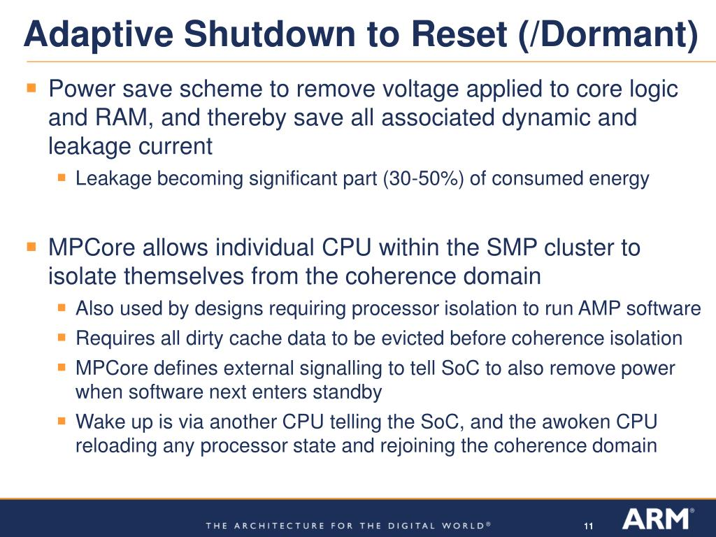 PPT - ARM11 MPCore and its impact on Linux Power Consumption