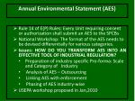 annual environmental statement aes