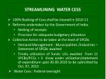 streamlining water cess