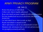 army privacy program