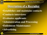 description of a recruiter