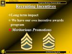 recruiting incentives