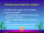 power electricity supply