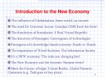 introduction to the new economy