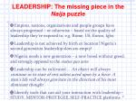 leadership the missing piece in the naija puzzle