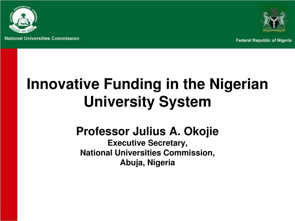 innovative funding in the nigerian university system l.