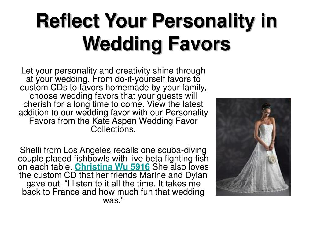 reflect your personality in wedding favors l.