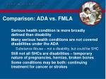 comparison ada vs fmla