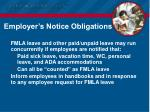 employer s notice obligations