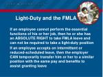 light duty and the fmla