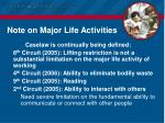 note on major life activities