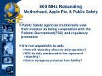 800 mhz rebanding motherhood apple pie public safety