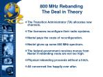 800 mhz rebanding the deal in theory