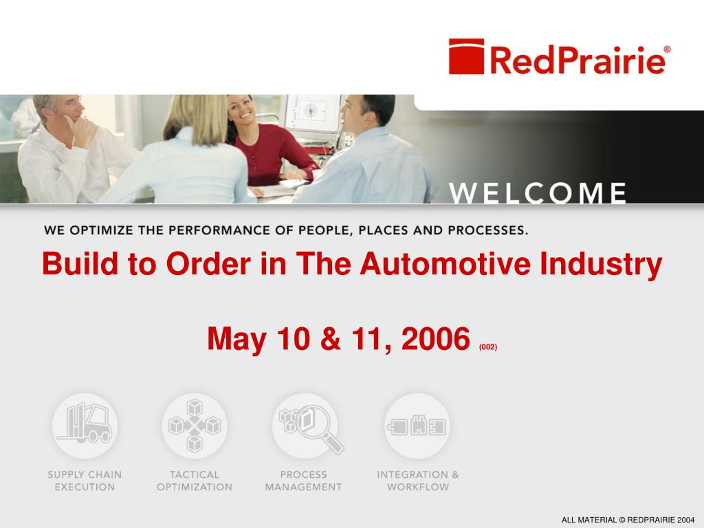 build to order in the automotive industry may 10 11 2006 002 l.