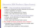 alternative ids products open source13