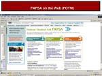 fafsa on the web fotw