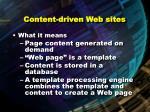 content driven web sites80
