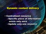 dynamic content delivery85