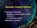 dynamic content delivery97