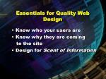 essentials for quality web design