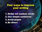 four ways to improve your writing