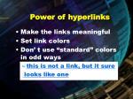 power of hyperlinks