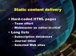 static content delivery