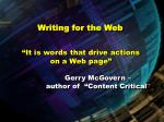writing for the web53