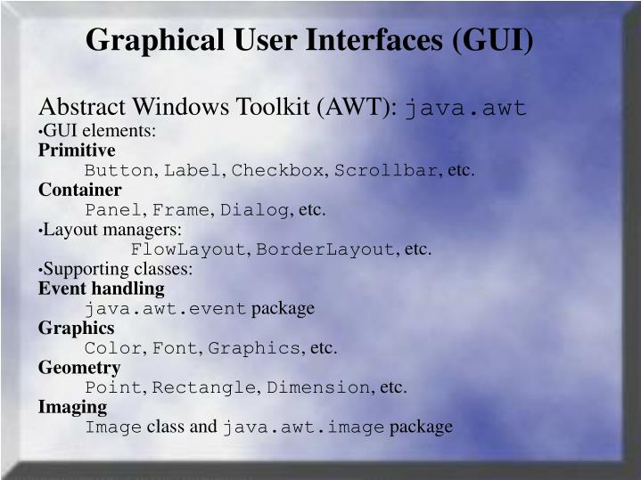 graphical user interfaces gui n.