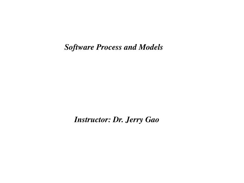 software process and models l.