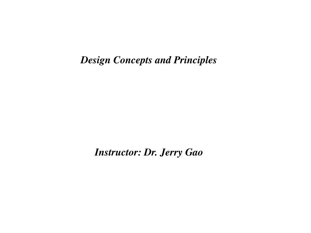 design concepts and principles l.