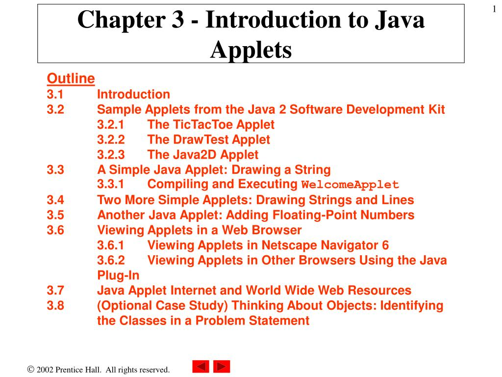 chapter 3 introduction to java applets l.