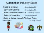 automobile industry sales10