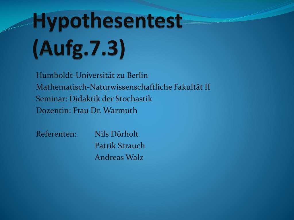 hypothesentest aufg 7 3 l.