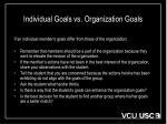 individual goals vs organization goals