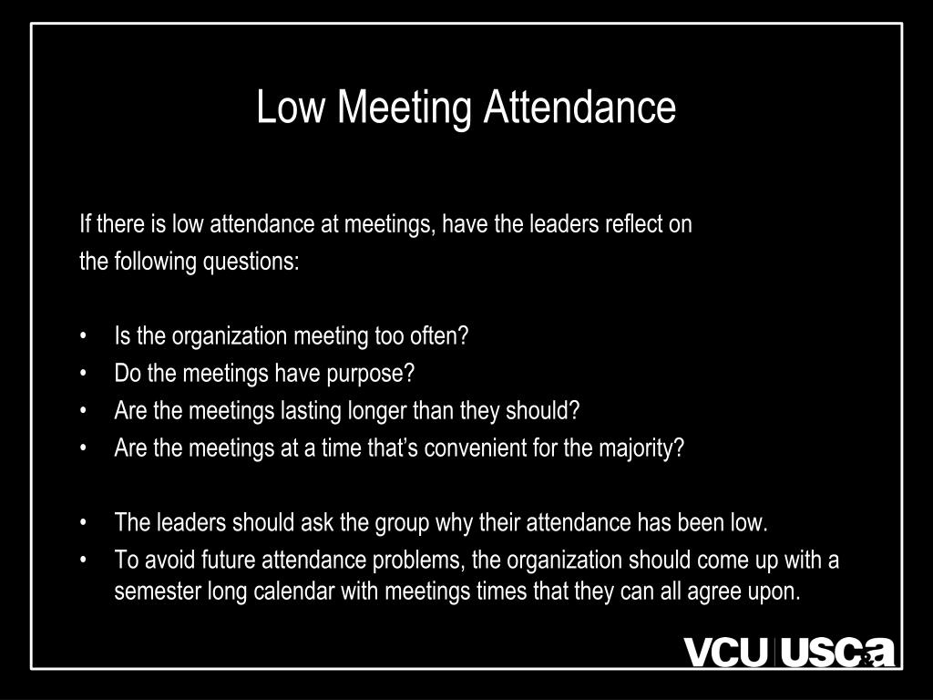 Low Meeting Attendance