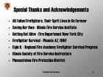 special thanks and acknowledgements